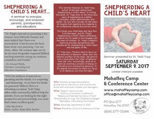 Shepherding A Child's Heart Seminar Brochure